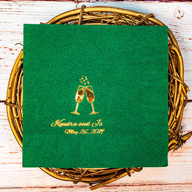 Custom Foil Stamped Luncheon Napkins