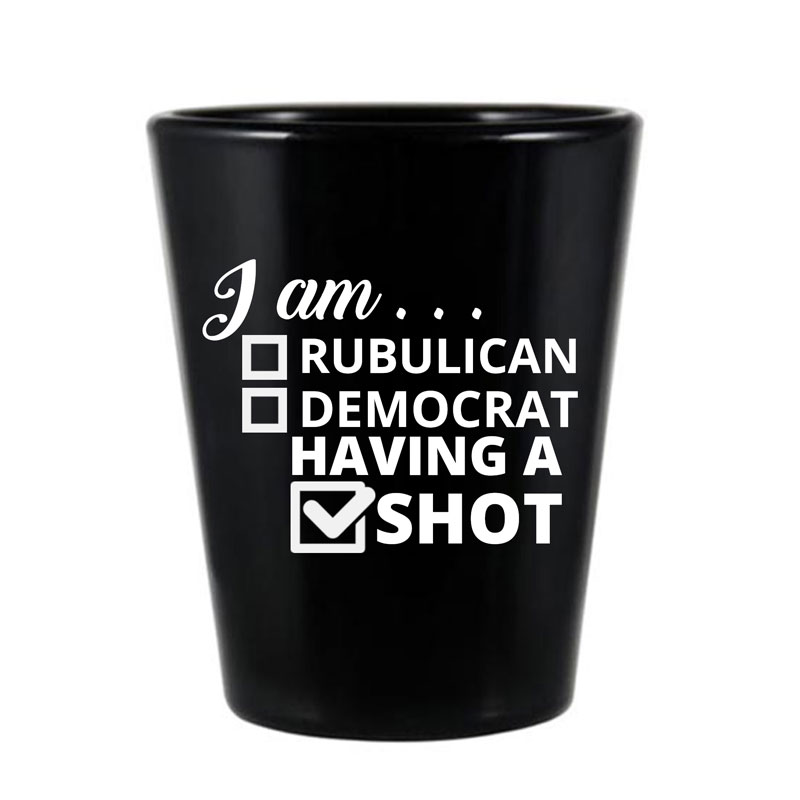 Personalized Black Shot Glasses- 1.75 Oz.