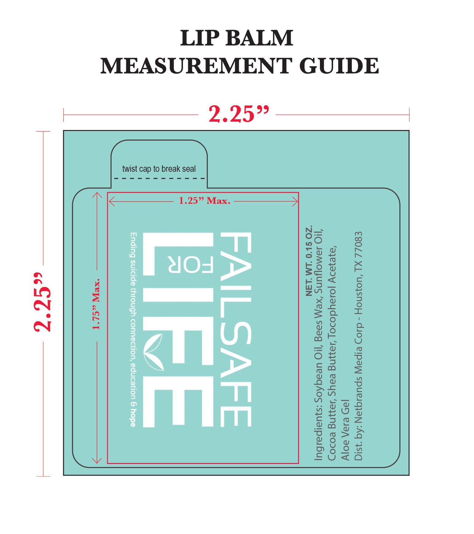 Lip Balm Label Measurement Guide