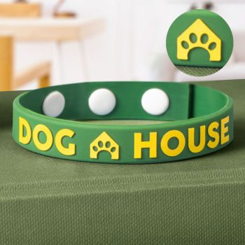 Embossed Printed Silicone Adjustable Wristbands