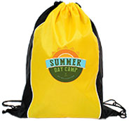 Custom Two Tone Sided Drawstring Bags